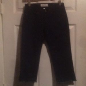 HABITUAL LOW-Rise pinstriped Jeans size 24 cropped